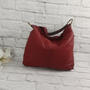 Lucky brend red leather hobo bag